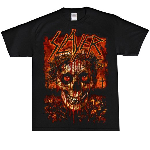 <img class='new_mark_img1' src='//img.shop-pro.jp/img/new/icons1.gif' style='border:none;display:inline;margin:0px;padding:0px;width:auto;' />Slayer / スレイヤー - Crowned Skull. Tシャツ【お取寄せ】
