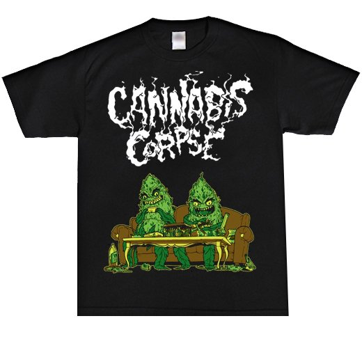 <img class='new_mark_img1' src='//img.shop-pro.jp/img/new/icons1.gif' style='border:none;display:inline;margin:0px;padding:0px;width:auto;' />Cannabis Corpse / カンナビス・コープズ - Couch Dudes. Tシャツ【お取寄せ】