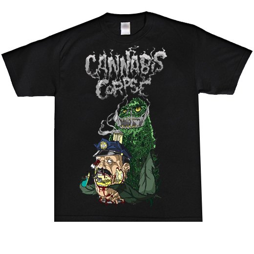 <img class='new_mark_img1' src='https://img.shop-pro.jp/img/new/icons1.gif' style='border:none;display:inline;margin:0px;padding:0px;width:auto;' />Cannabis Corpse / カンナビス・コープズ - Cop Bong Dead By Bong. Tシャツ【お取寄せ】
