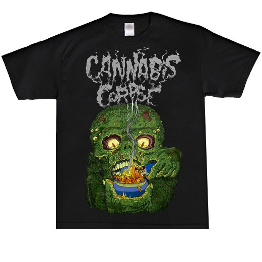 Cannabis Corpse / カンナビス・コープズ - Bowl Of Fire. Tシャツ【お取寄せ】