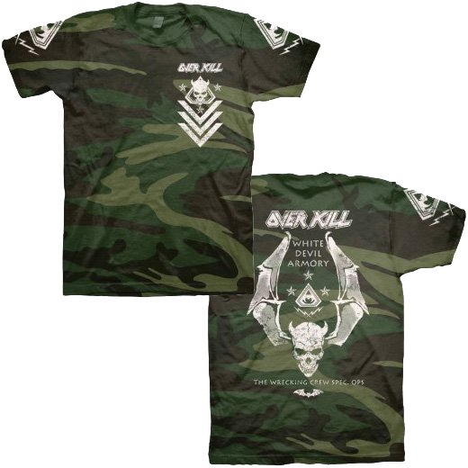 Overkill / オーヴァーキル - White Devil Spec Ops Camo. Tシャツ【お取寄せ】