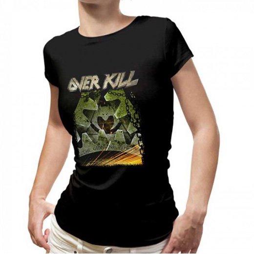 Overkill / オーヴァーキル - Grinding Wheel. レディースTシャツ【お取寄せ】