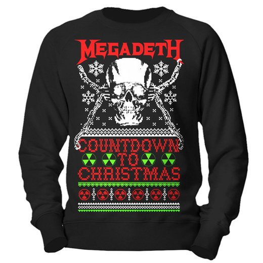 <img class='new_mark_img1' src='//img.shop-pro.jp/img/new/icons1.gif' style='border:none;display:inline;margin:0px;padding:0px;width:auto;' />Megadeth / メガデス - Countdown To Christmas. クリスマスセーター【お取寄せ】