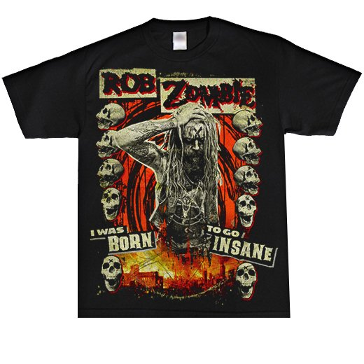 <img class='new_mark_img1' src='https://img.shop-pro.jp/img/new/icons1.gif' style='border:none;display:inline;margin:0px;padding:0px;width:auto;' />Rob Zombie / ロブ・ゾンビ - Born to Go Insane. Tシャツ【お取寄せ】