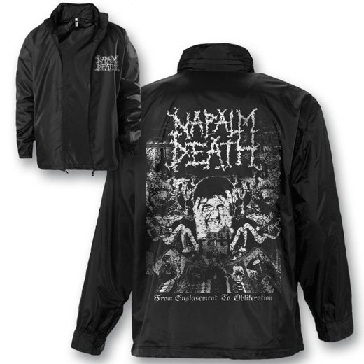 <img class='new_mark_img1' src='//img.shop-pro.jp/img/new/icons1.gif' style='border:none;display:inline;margin:0px;padding:0px;width:auto;' />Napalm Death / ナパーム・デス - From Enslavement To Obliteration. ウィンドブレーカー【お取寄せ】