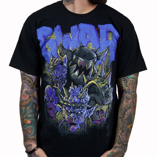 Gwar / グワァー - Destroyers (Black x Purple). Tシャツ【お取寄せ】
