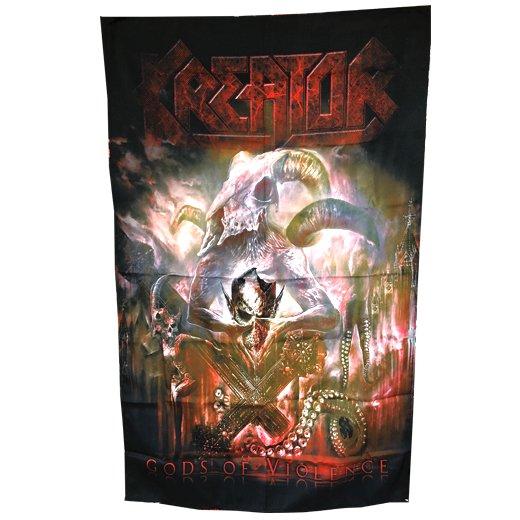 【即納商品】Kreator / クリエイター - Gods of Violence. フラッグ