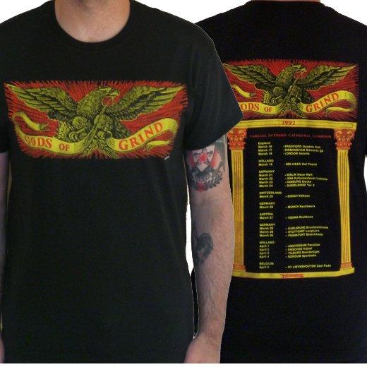 Earache Records / イヤーエイク・レコード - Gods Of Grind. Tシャツ【お取寄せ】