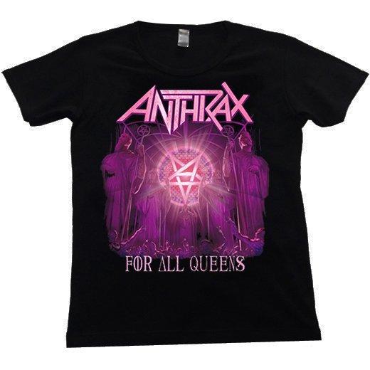 【即納商品】Anthrax / アンスラックス - For All Queens. レディースTシャツ(XLサイズ)