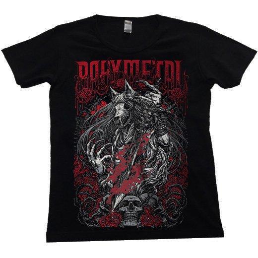 BABYMETAL / ベビーメタル - Rosewolf. レディースTシャツ【お取寄せ】