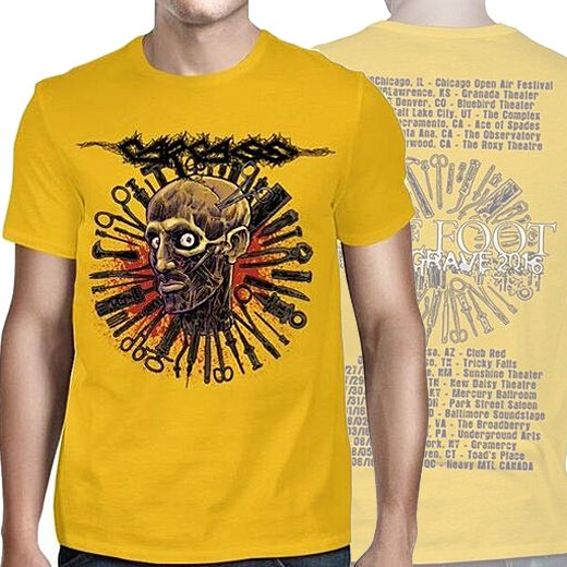 【即納商品】Carcass / カーカス - Head One Foot 2016 Tour Dates. Tシャツ(XXLサイズ)