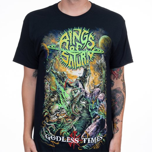 Rings Of Saturn / リングス・オブ・サターン - Godless Times. Tシャツ【お取寄せ】