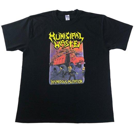 【即納商品】Municipal Waste / ミュニシパル・ウェイスト - Hazardous Mutation (Black). Tシャツ(XLサイズ)