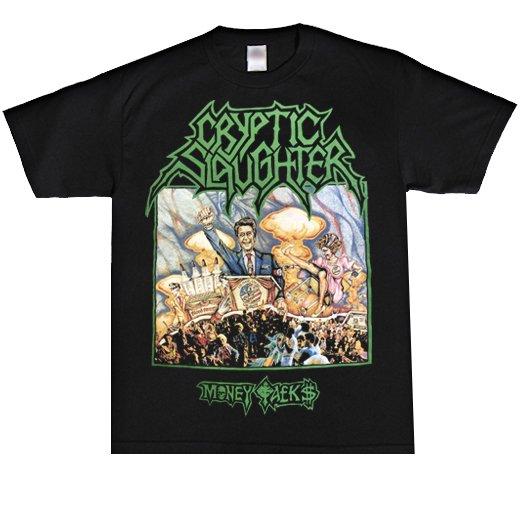 【即納商品】Cryptic Slaughter / クリプティック・スローター - Money Talks. Tシャツ(XLサイズ)