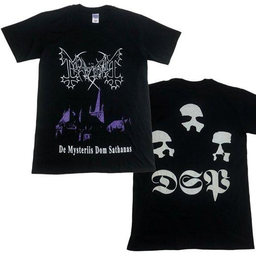 【即納商品】Mayhem / メイヘム - De Mysteriis Dom Sathanas. Tシャツ(Mサイズ)