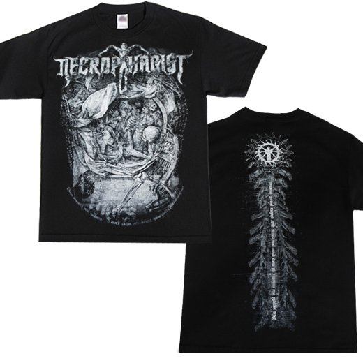 【即納商品】Necrophagist / ネクロファジスト - Mors. Tシャツ(Lサイズ)