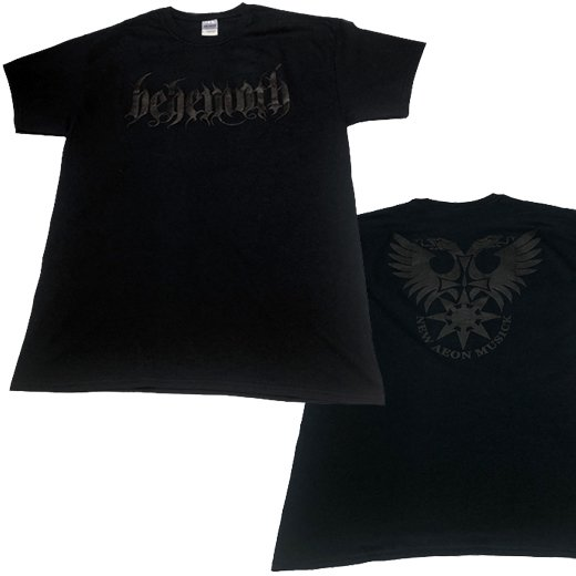 【即納商品】Behemoth / ベヒーモス - Logo (Puff Print). Tシャツ(Lサイズ)