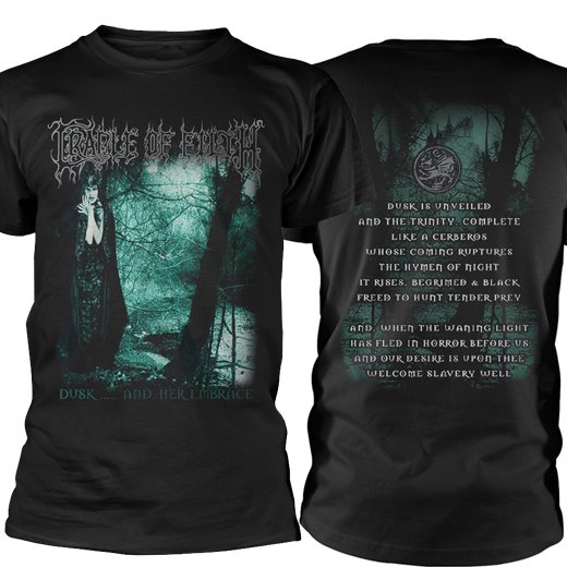 <img class='new_mark_img1' src='https://img.shop-pro.jp/img/new/icons1.gif' style='border:none;display:inline;margin:0px;padding:0px;width:auto;' />Cradle Of Filth / クレイドル・オブ・フィルス - Dusk And Her Embrace. Tシャツ【お取寄せ】