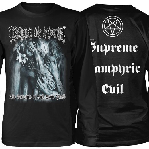 <img class='new_mark_img1' src='https://img.shop-pro.jp/img/new/icons1.gif' style='border:none;display:inline;margin:0px;padding:0px;width:auto;' />Cradle Of Filth / クレイドル・オブ・フィルス - The Principle Of Evil Made Flesh. ロングスリーブTシャツ【お取寄せ】