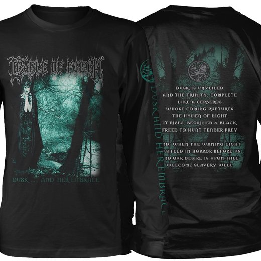 <img class='new_mark_img1' src='https://img.shop-pro.jp/img/new/icons1.gif' style='border:none;display:inline;margin:0px;padding:0px;width:auto;' />Cradle Of Filth / クレイドル・オブ・フィルス - Dusk And Her Embrace. ロングスリーブTシャツ【お取寄せ】