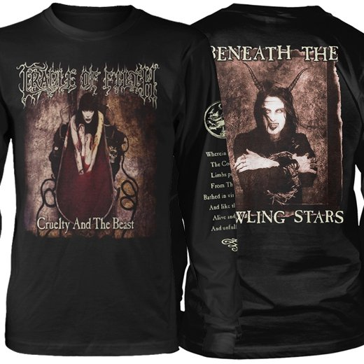 <img class='new_mark_img1' src='https://img.shop-pro.jp/img/new/icons1.gif' style='border:none;display:inline;margin:0px;padding:0px;width:auto;' />Cradle Of Filth / クレイドル・オブ・フィルス - Cruelty And The Beast. ロングスリーブTシャツ【お取寄せ】