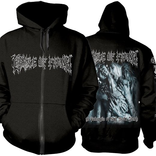 <img class='new_mark_img1' src='https://img.shop-pro.jp/img/new/icons61.gif' style='border:none;display:inline;margin:0px;padding:0px;width:auto;' />Cradle Of Filth / クレイドル・オブ・フィルス - The Principle Of Evil Made Flesh. ジップアップパーカー【お取寄せ】