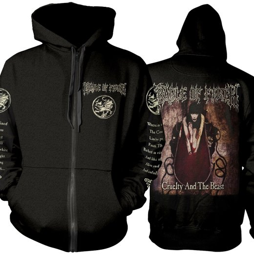 <img class='new_mark_img1' src='https://img.shop-pro.jp/img/new/icons61.gif' style='border:none;display:inline;margin:0px;padding:0px;width:auto;' />Cradle Of Filth / クレイドル・オブ・フィルス - Cruelty And The Beast. ジップアップパーカー【お取寄せ】