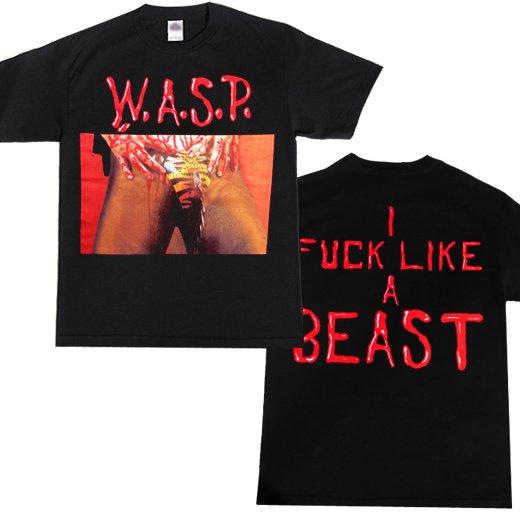 【即納商品】W.A.S.P. / ワスプ - Animal(Fuck Like A Beast). Tシャツ (Mサイズ)