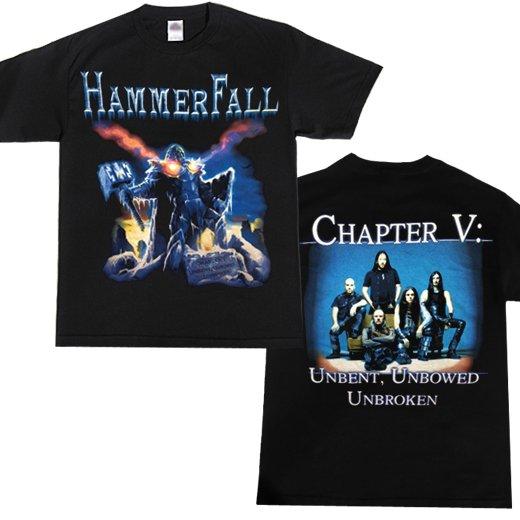 【即納商品】Hammerfall / ハンマーフォール - Unbent Unbowed Unbroken. Tシャツ (Mサイズ)