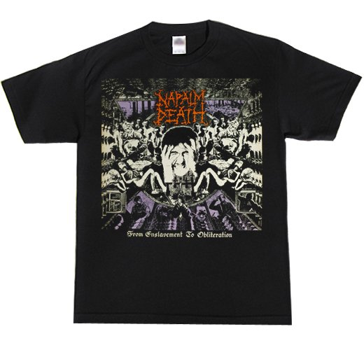 Napalm Death / ナパーム・デス - From Enslavement To Obliteration. Tシャツ【お取寄せ】