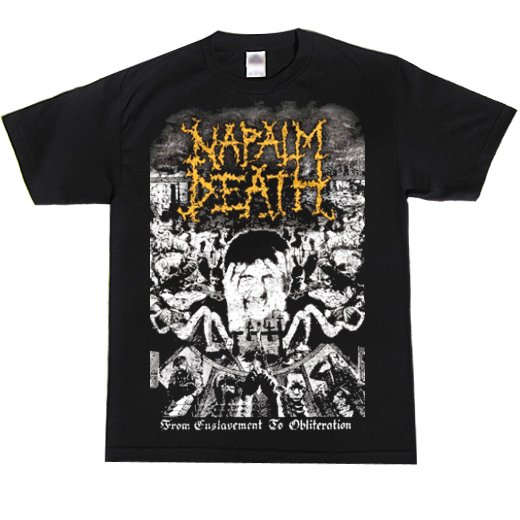 Napalm Death / ナパーム・デス - From Enslavement To Obliteration Vintage. Tシャツ【お取寄せ】