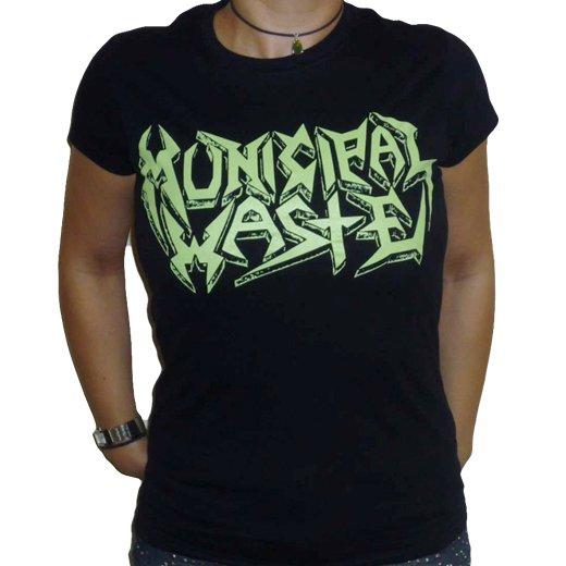Municipal Waste / ミュニシパル・ウェイスト - Logo. レディースTシャツ【お取寄せ】