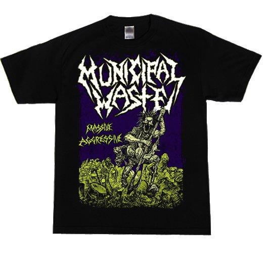 Municipal Waste / ミュニシパル・ウェイスト - Massive Aggressive (Black) . Tシャツ【お取寄せ】