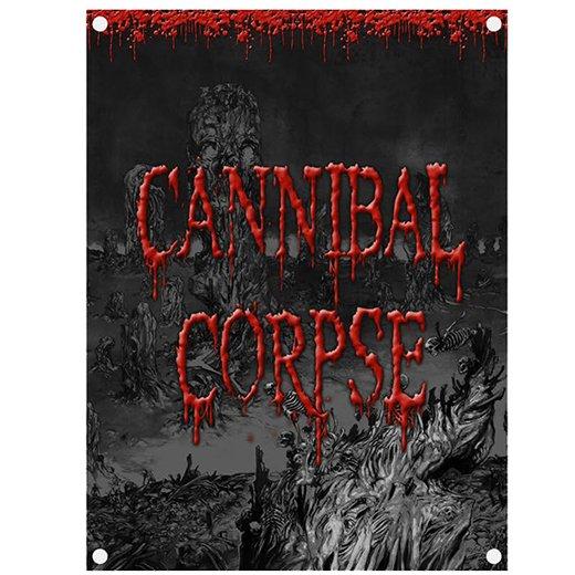 【お取寄せ】Cannibal Corpse / カンニバル・コープス - Skeletal Domain. フラッグ