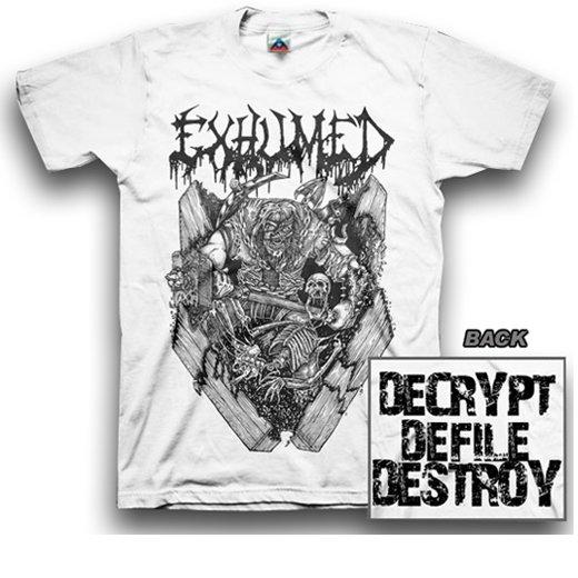 【お取寄せ】Exhumed / イグジュームド - Casket Crusher (White). Tシャツ