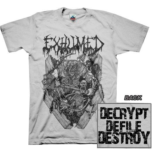 【お取寄せ】Exhumed / イグジュームド - Casket Crusher (Silver). Tシャツ