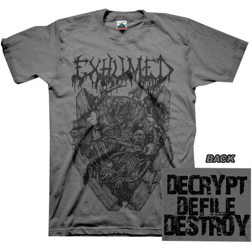 【お取寄せ】Exhumed / イグジュームド - Casket Crusher (Charcoal). Tシャツ