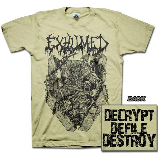【お取寄せ】Exhumed / イグジュームド - Casket Crusher (Sand). Tシャツ