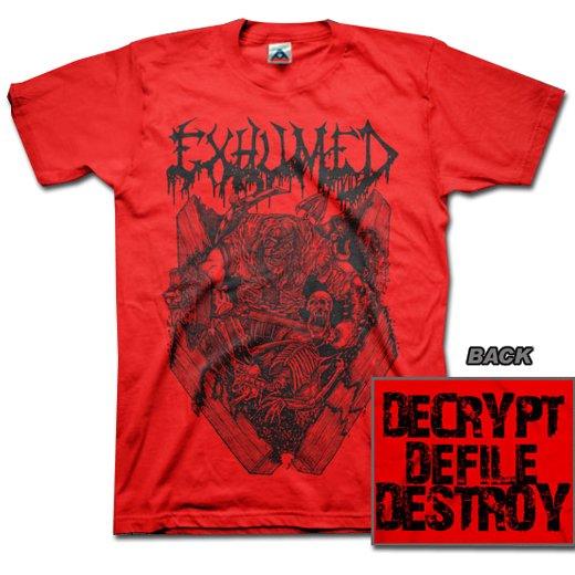 【お取寄せ】Exhumed / イグジュームド - Casket Crusher (Red). Tシャツ