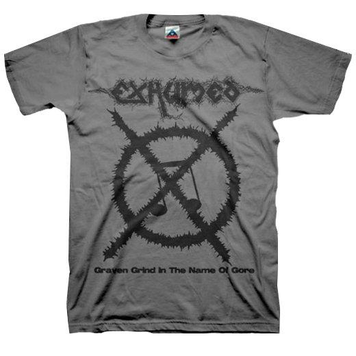 【お取寄せ】Exhumed / イグジュームド - Carcass Grinder (Charcoal). Tシャツ