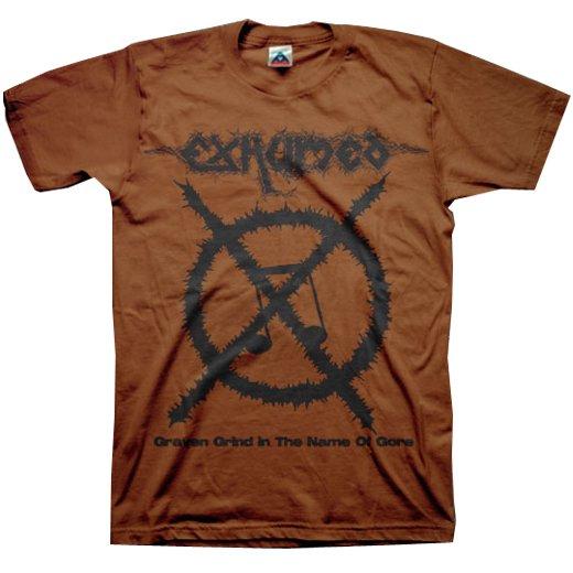 【お取寄せ】Exhumed / イグジュームド - Carcass Grinder (Chocolate). Tシャツ