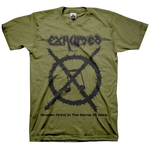 【お取寄せ】Exhumed / イグジュームド - Carcass Grinder (Olive). Tシャツ
