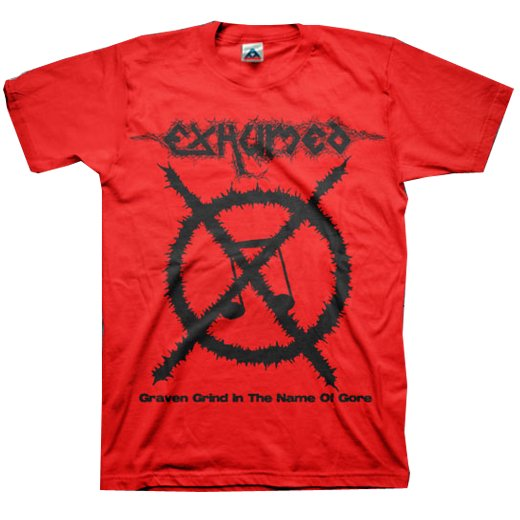 【お取寄せ】Exhumed / イグジュームド - Carcass Grinder (Red). Tシャツ