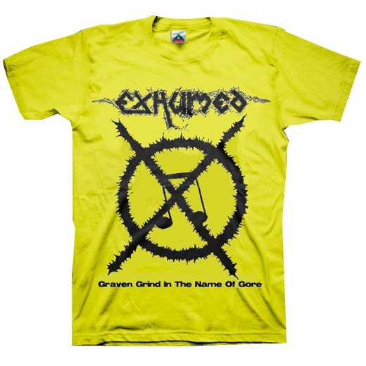 【お取寄せ】Exhumed / イグジュームド - Carcass Grinder (Yellow). Tシャツ