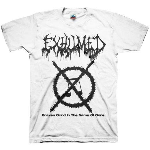 【お取寄せ】Exhumed / イグジュームド - Grind Symbol (White). Tシャツ