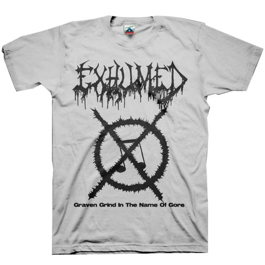 【お取寄せ】Exhumed / イグジュームド - Grind Symbol (Silver). Tシャツ