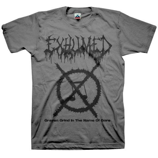 【お取寄せ】Exhumed / イグジュームド - Grind Symbol (Charcoal). Tシャツ