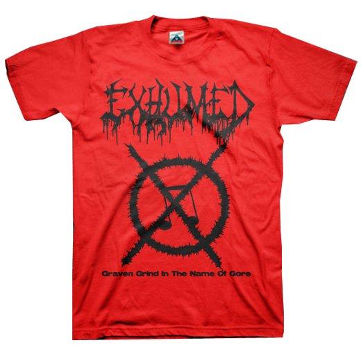 【お取寄せ】Exhumed / イグジュームド - Grind Symbol (Red). Tシャツ
