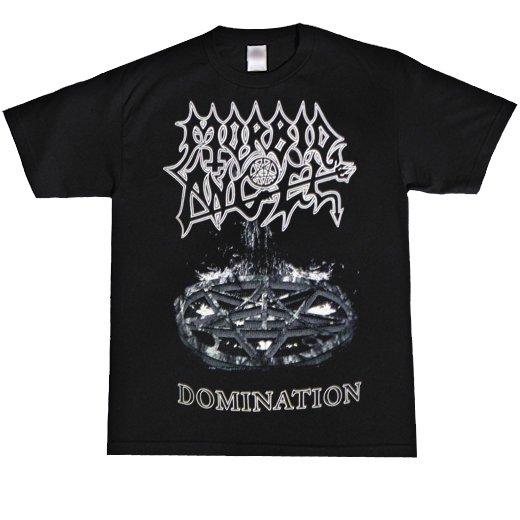 Morbid Angel / モービッド・エンジェル - Domination (Black x White). Tシャツ【お取寄せ】