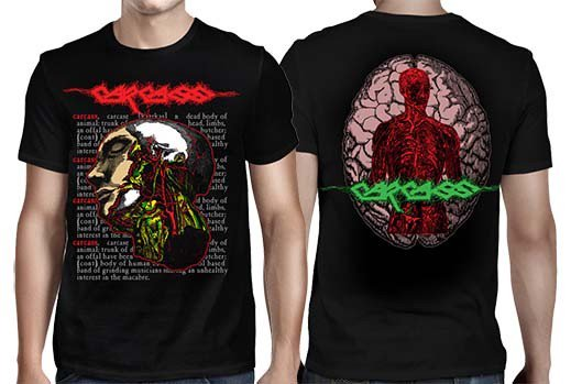 Carcass / カーカス - Anatomical Head. Tシャツ【お取寄せ】